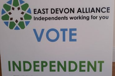 East Devon Alliance Vote Independent Sign