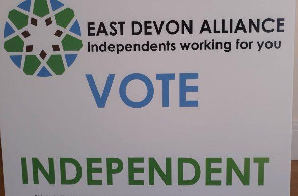 East Devon Alliance Vote Independent Sign
